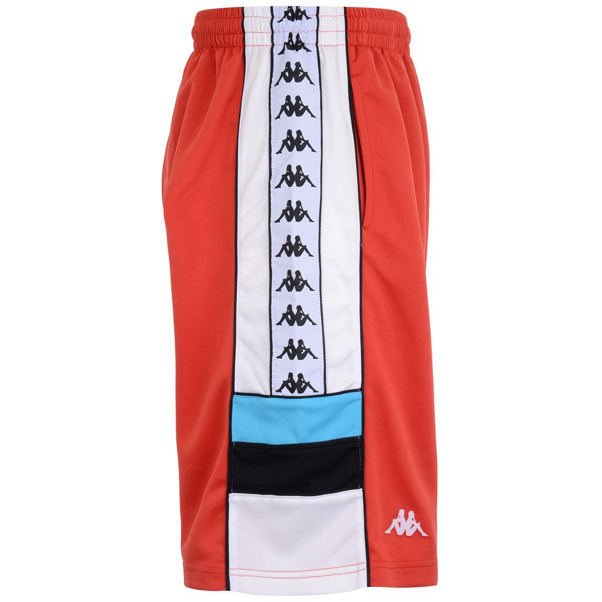Bermuda da uomo in interlock. Kappa | Pantalone | 303WBR0A50 RED-WHITE-BLACK