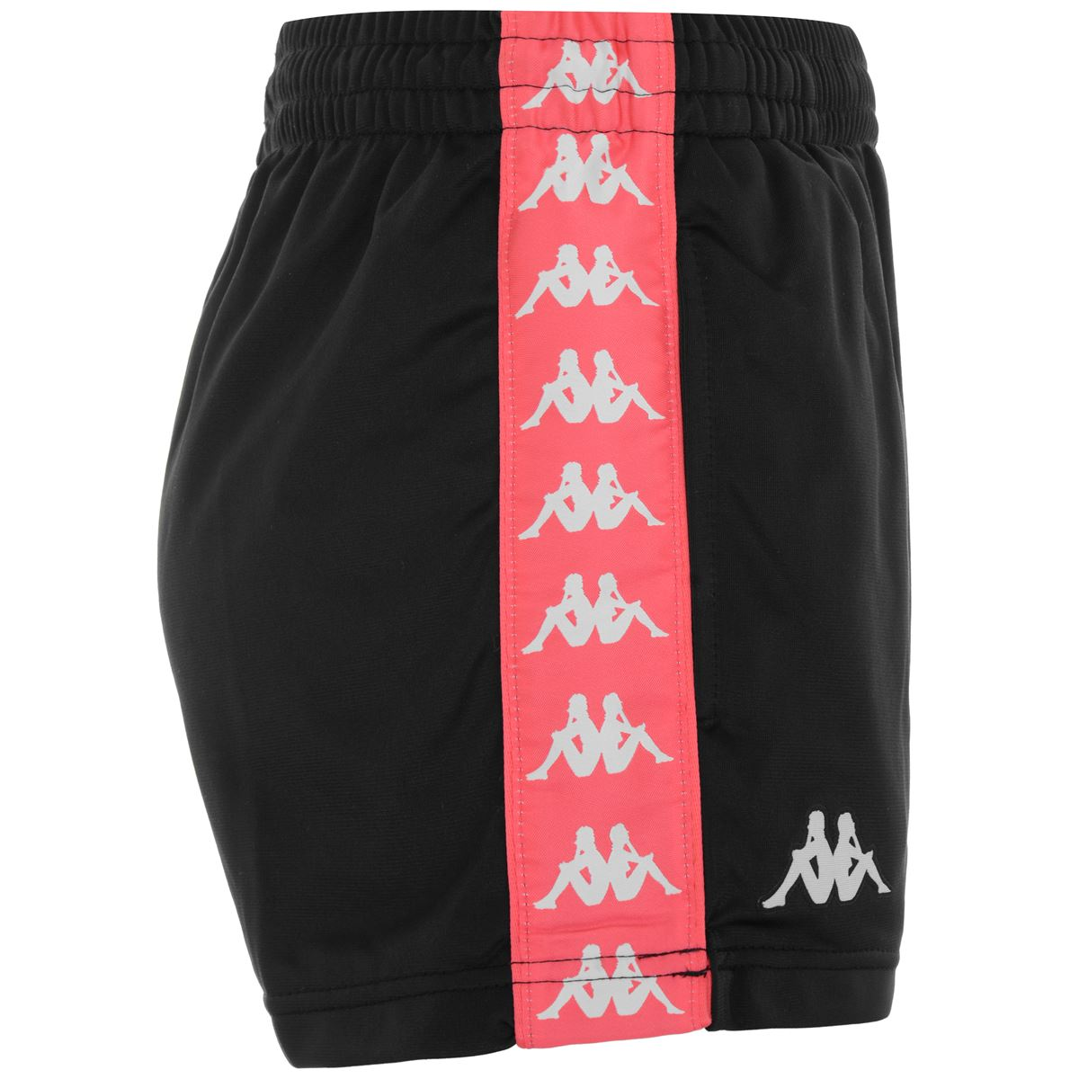 Pantaloncini da donna in tricot garzato Kappa | Pantalone | 304S7L0A0S BLACK-RED FRAGOLA