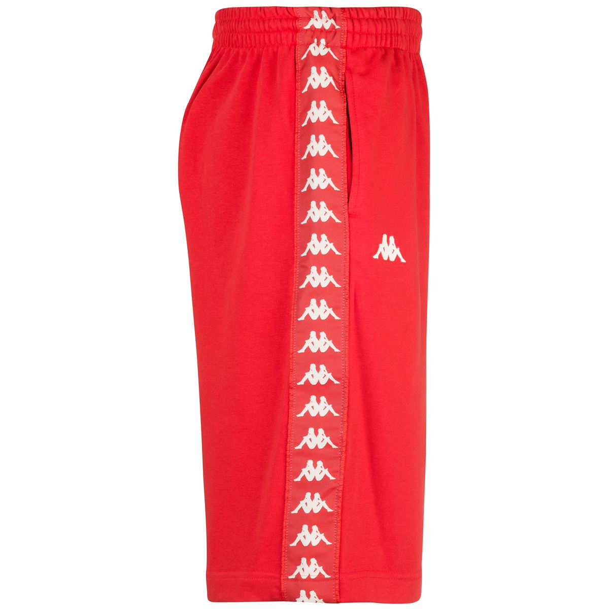 Shorts da uomo in french terry Kappa   Pantalone   3111I3WA0A RED BLAZE-WHITE ANTIQUE