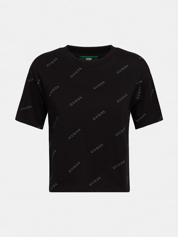 T-SHIRT LOGO ALL OVER GUESS ACTIWEAR | T-shirt | O1GA10 I3Z11JBLK