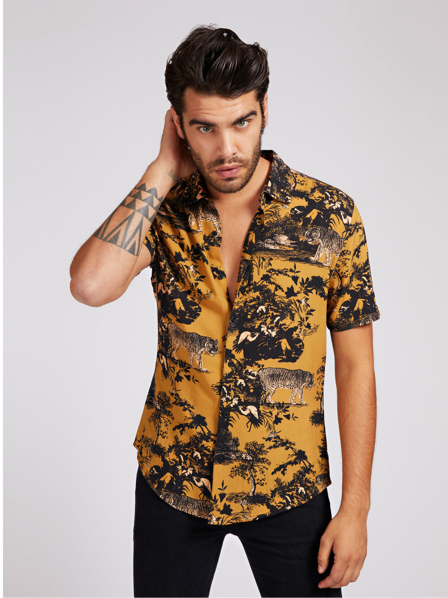 CAMICIA STAMPA ALL OVER GUESS | Camicie | M0RH48 RD4Z1P275