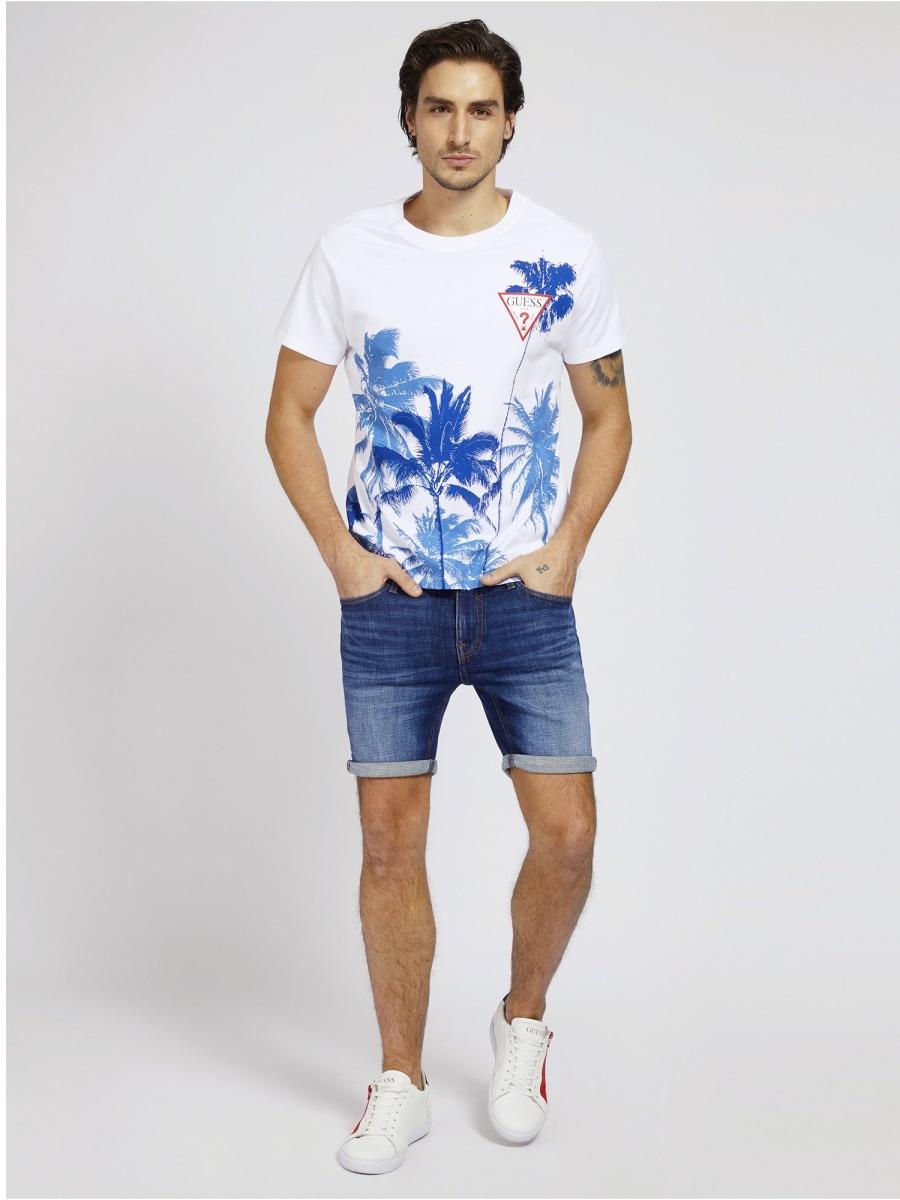 T-SHIRT STAMPA PIAZZATA GUESS   T-shirt   M1GI85 K8FQ1TWHT