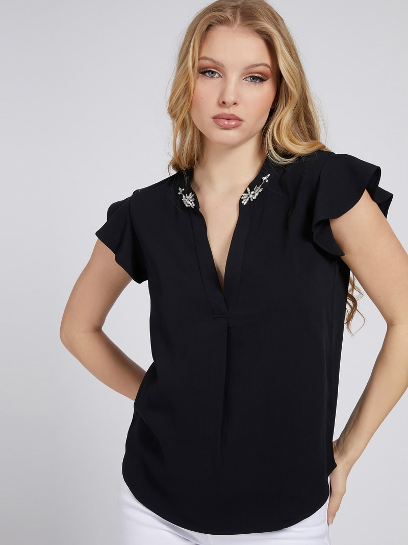TOP STRASS GUESS | Top | W1GH90 W9X52JBLK