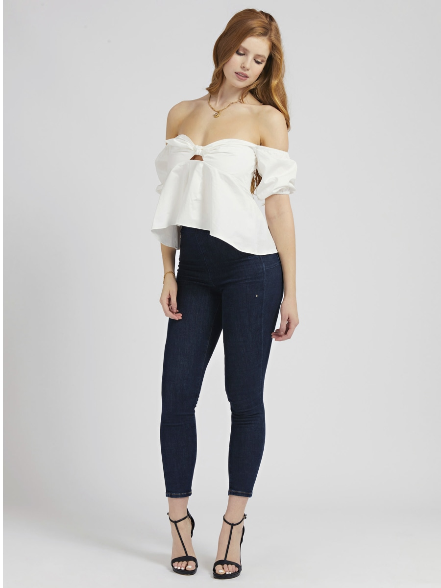 TOP OFF-SHOULDER ANNODATO GUESS | Top | W1GH97 WDXM0TWHT