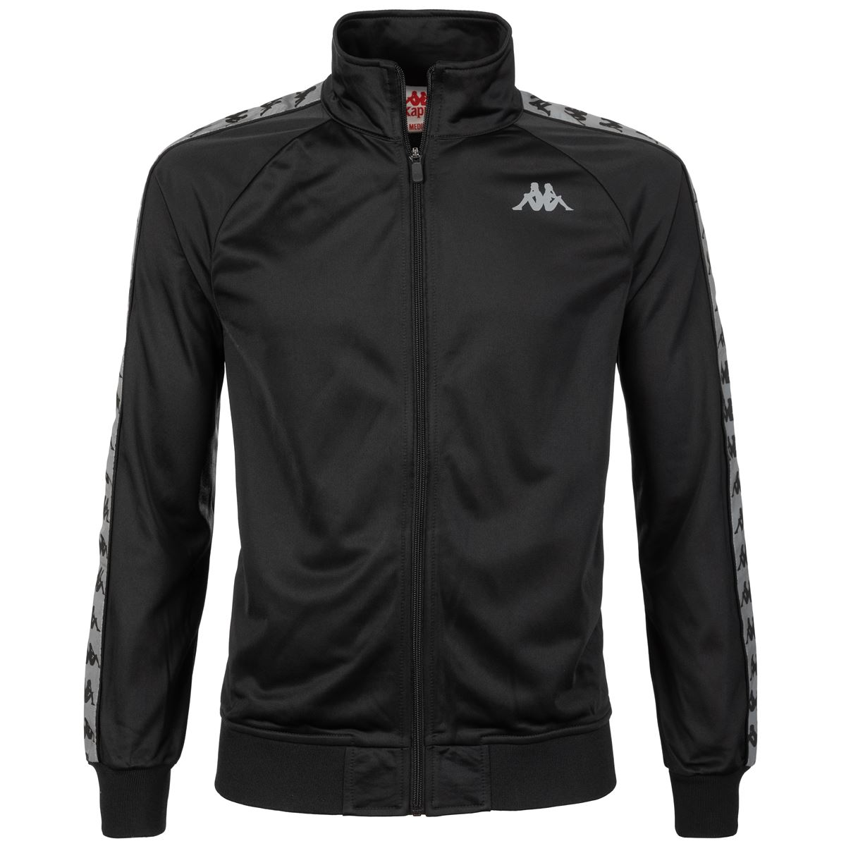 Felpa da uomo in tricot garzato Kappa | Felpe | 304UTJ0900 BLACK-GREYREFLECTIVE