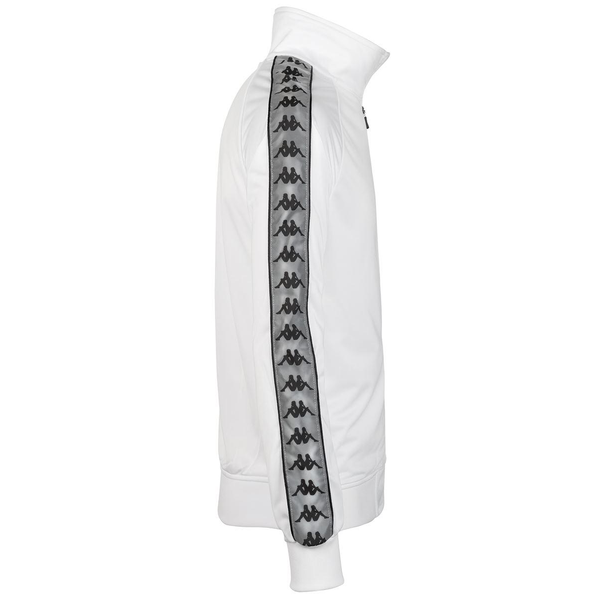 Felpa da uomo in tricot garzato Kappa | Felpe | 304UTJ0A0C WHITE-GREY REFLECTIVE