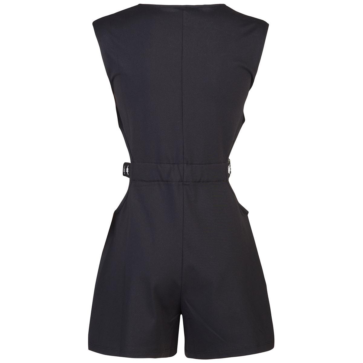 Top da donna in jersey elasticizzato Kappa | Tute | 3117DKWBZB BLACK-WHITE-BLACK