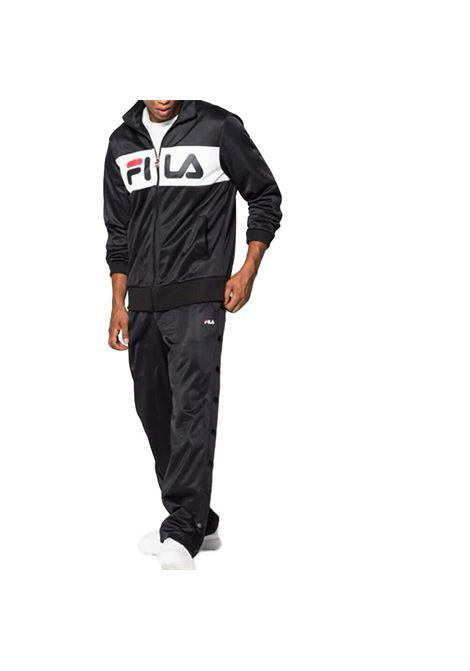 Felpa zip logo FILA | Maglia | 682386E09 BLACK-BRIGHT WHITE