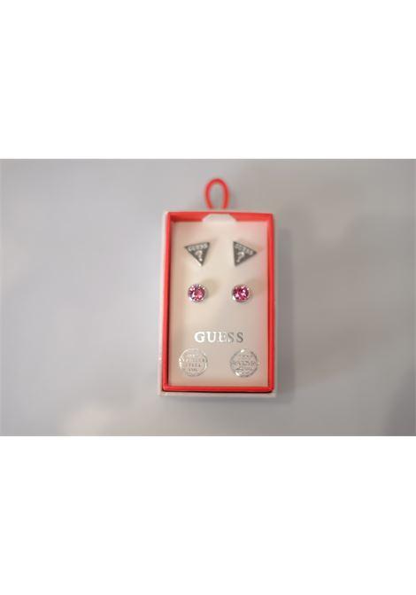 set orecchini punto luce bottoncino/triangolo GUESS JEWELRY | Accessori | JUBS29405FUXIA