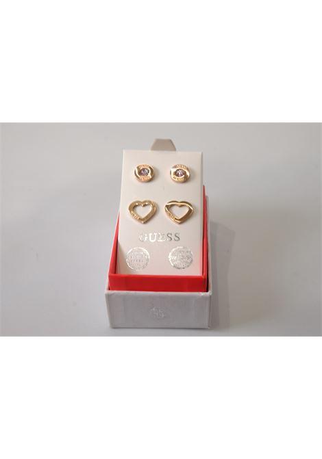 set orecchini punto luce bottoncino/cuore GUESS JEWELRY | Accessori | JUBS29423PINK