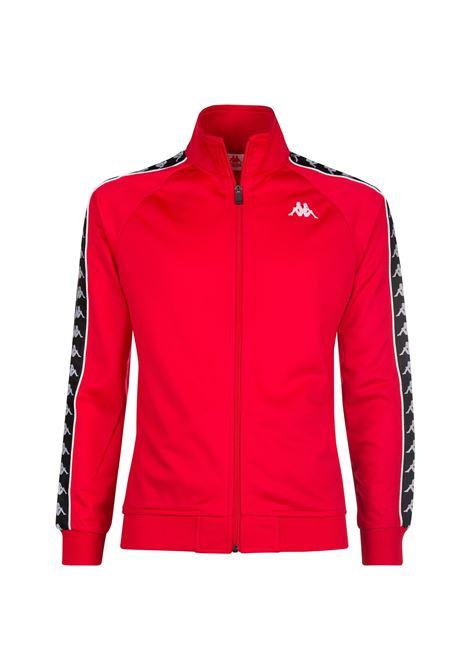 Felpa da uomo in tricot garzato Kappa | Felpa | 301EFU0F67 RED-BLACK