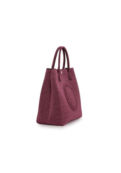 Borsa Shopper in Tekno Fabric Lurex. LA FILLE DES FLEURS | Borsa | ILARY LUREXROSA