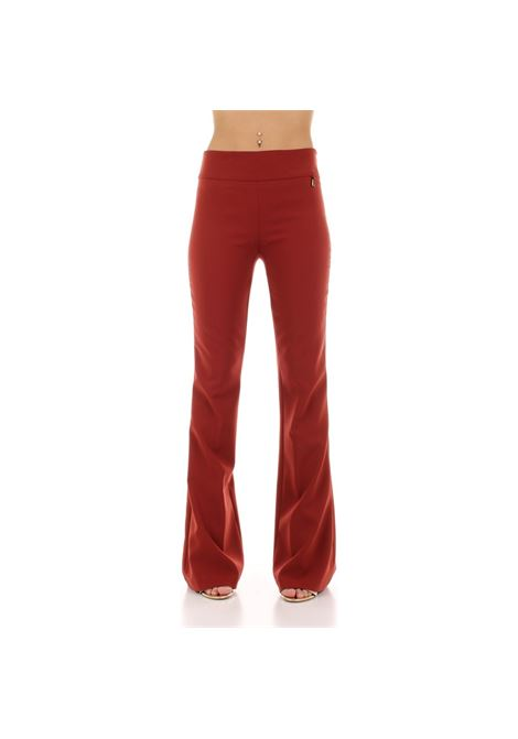 pantalone zampa FLY GIRL | Pantalone | 30240/010349 RED WINE