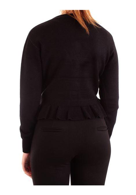 Cardigan regular corto con bottoni gioiello FRACOMINA | Maglia | F120W06015K03501053 BLACK