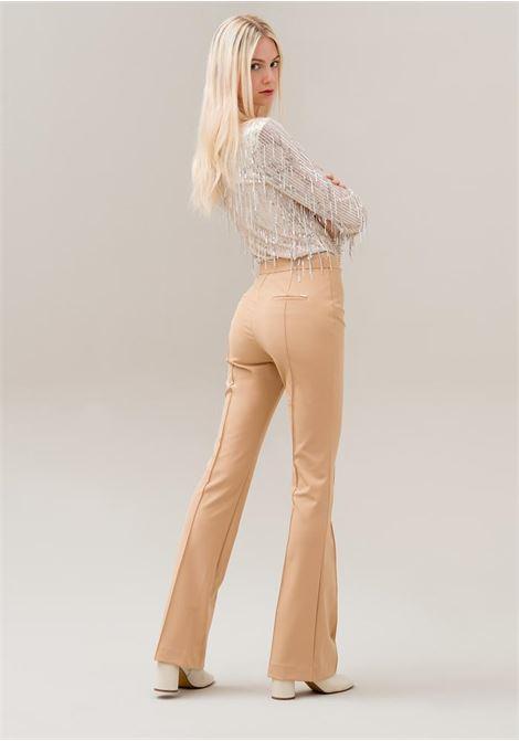 Pantaloni bootcut in tessuto stretch FRACOMINA | Pantalone | F120W10022W01401093 CAMEL