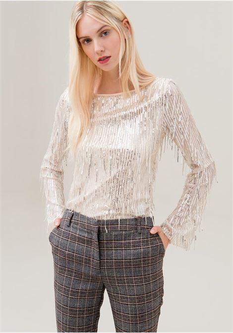 Pantaloni regular in tessuto principe di Galles FRACOMINA | Pantalone | F120W10024W01301210 MULTICOLOR