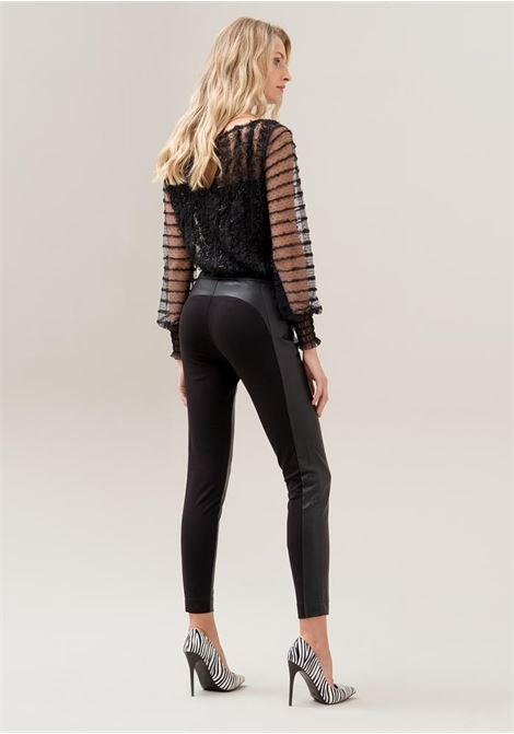 Pantaloni leggings in tessuto stretch FRACOMINA | Pantalone | F120W21001J00401053 BLACK