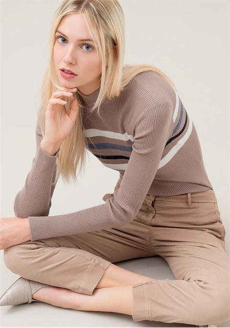 PANTALONI CHINOS REGULAR IN TESSUTO STRETCH FRACOMINA | Pantalone | F220WP3008W22501208 MUD