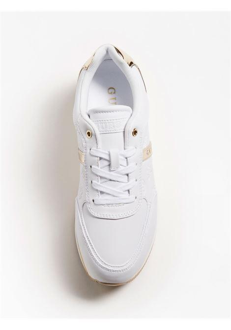 RUNNER DAFNE SIMIL PELLE GUESS FOOTWEAR | Scarpe | FL7DFE FAL12WHITE
