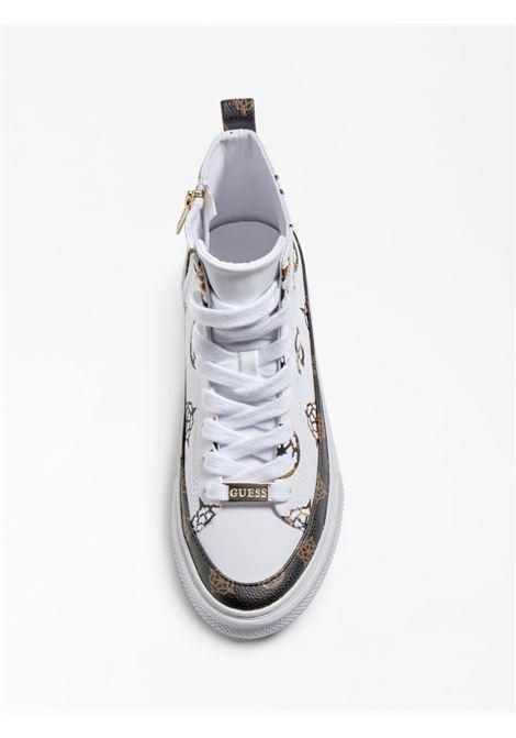 SNEAKER ALTA LEKSAN 4G LOGO PEONY GUESS FOOTWEAR | Scarpe | FL8LEK FAL12WHITE