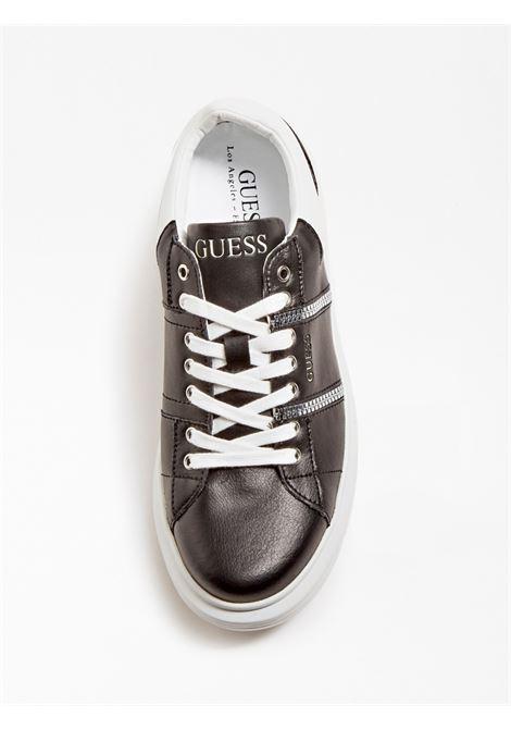 SNEAKER SALERNO VERA PELLE GUESS FOOTWEAR | Scarpe | FM7SAI LEA12BLACK