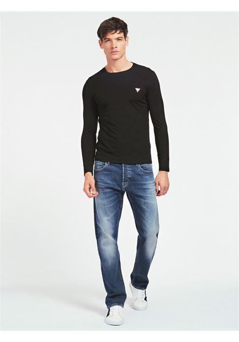 T-SHIRT GIROCOLLO GUESS | T-shirt | M0BI48 I3Z11JBLK