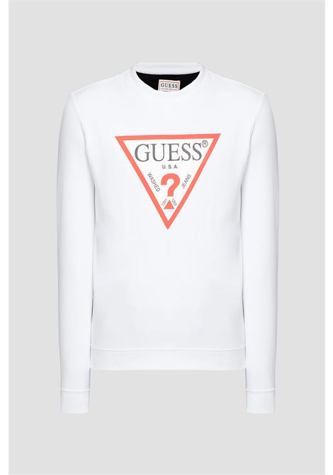 FELPA TRIANGOLO LOGO GUESS | Felpe | M0BQ37 K7ON1TWHT