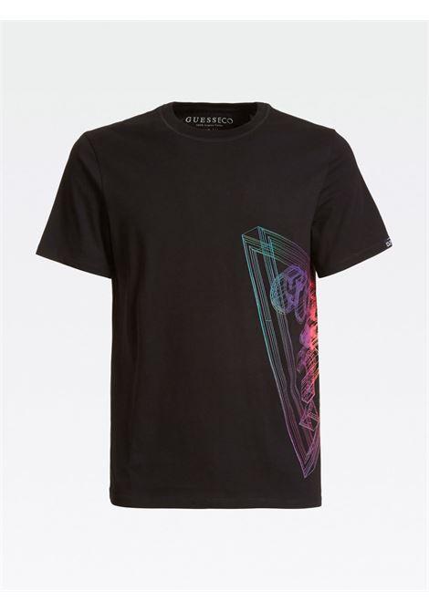 T-SHIRT LOGO LATERALE GUESS | T-shirt | M0YI45 K8HM0JBLK