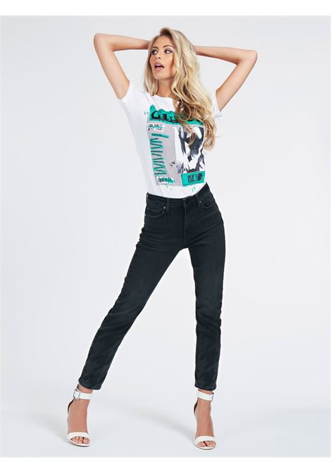 JEANS RELAXED STAMPA LASER GUESS | Jeans | W0BA35 D46L2BRUK