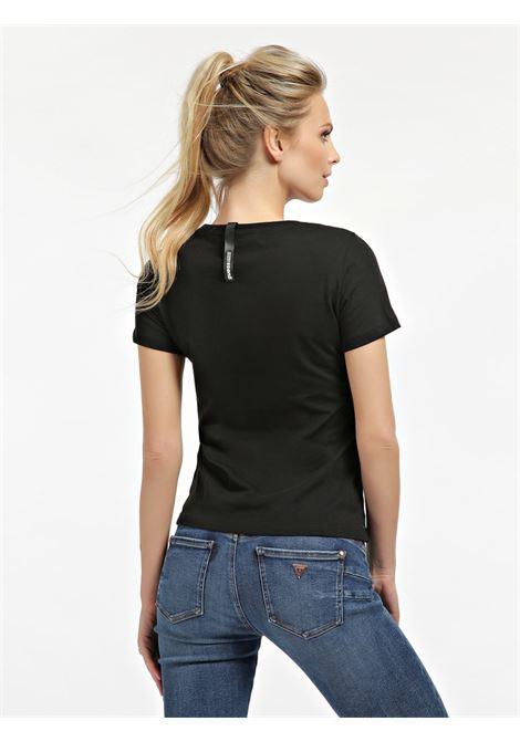 T-SHIRT STAMPA PIAZZATA GLITTER GUESS | T-shirt | W0BI09 I3Z00JBLK