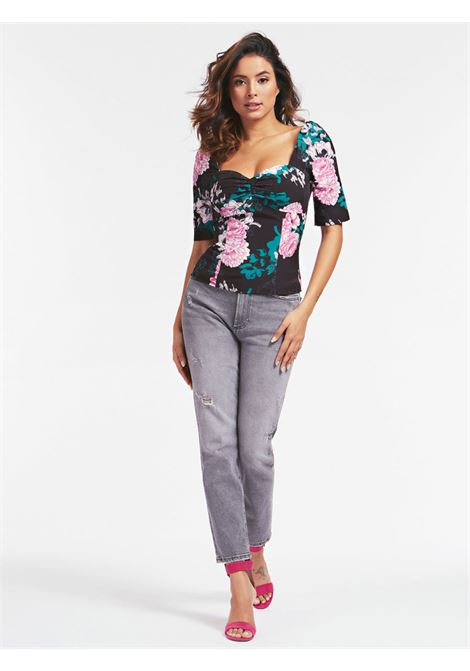 TOP STAMPA FLOREALE GUESS | Top | W0YH47 WCUL0PL95
