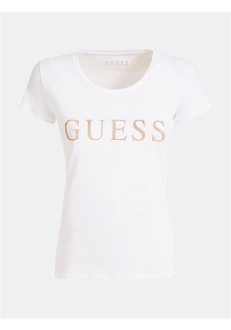 T-SHIRT LOGO FRONTALE GUESS | T-shirt | W0YI0L J1300TWHT