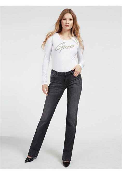 T-SHIRT LOGO FRONTALE GUESS | T-shirt | W0YI65 JA900TWHT