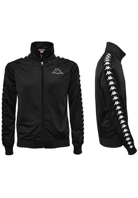 Felpa da uomo in tricot garzato Kappa | Felpa | 301EFU0J61 BLACK-BLACK