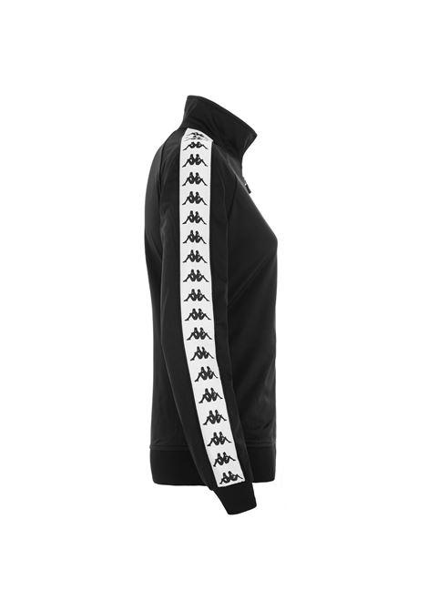 Felpa da donna in tessuto di tricot garzato Kappa | Felpe | 301PSC0C73 BLACK-WHITE-BLACK