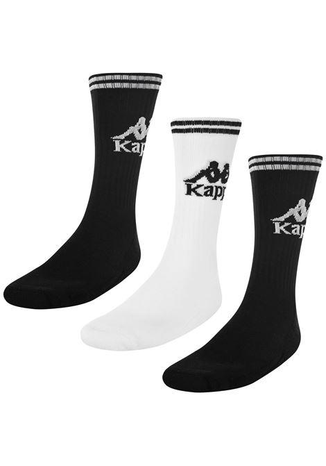 Calzini unisex in spugna Kappa | Calze | 3030QL0910 BLACK-WHITE