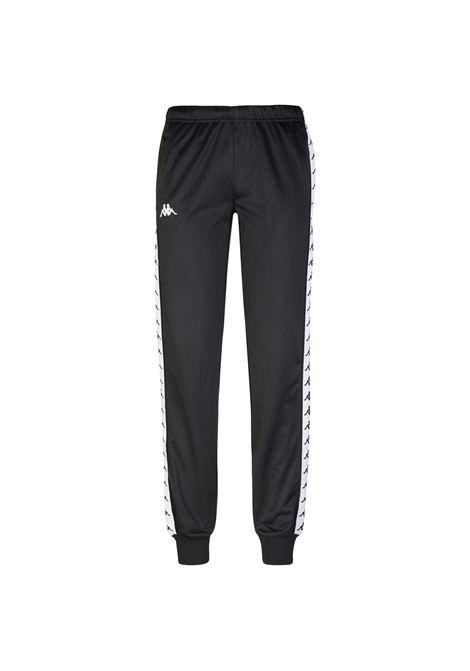 Pantaloni da donna in tricot garzato Kappa | Pantalone | 303R5K0A93 BLACK-WHITE-BLACK