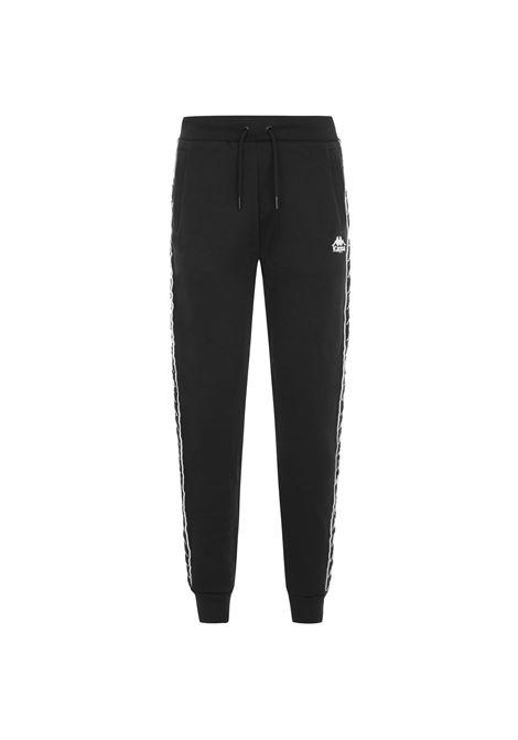 Pantaloni da uomo in felpa garzata Kappa | Pantalone | 304KPN0929 BLACK-BLACK