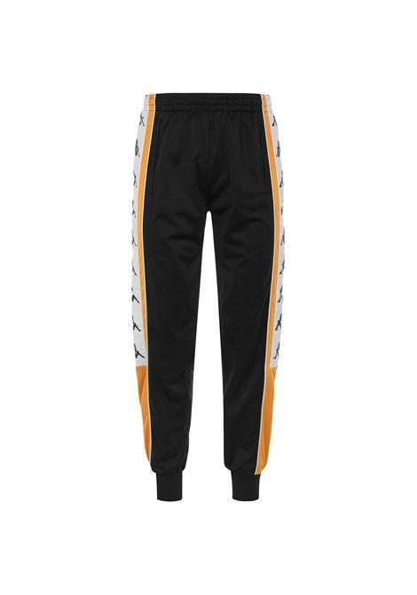 Pantaloni sportivi da uomo in tricot garzato Kappa | Pantalone | 304LIC0CA0 BLACK-OCHRE-WHITE