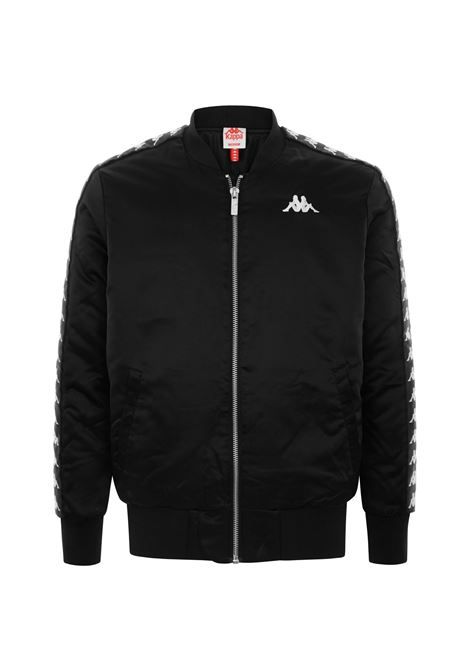 Bomber da uomo in woven. Kappa | Felpa | 304RMA0BY7 BLACK-WHITE