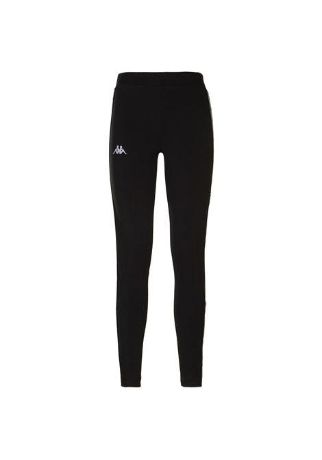 Leggings da donna in jersey Kappa | Pantalone | 3113KYWA09 BLACK-SILVER