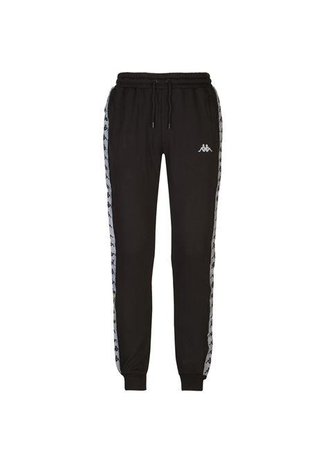 Pantaloni da uomo in felpa garzata Kappa | Pantalone | 31141TWA09 BLACK-SILVER