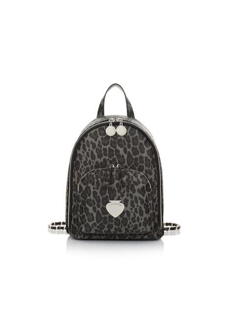 Backpack con tasca frontale e chiusura a zip LE PANDORINE | Borsa | VICKY BACKPACK OGGILEOPARD BLACK