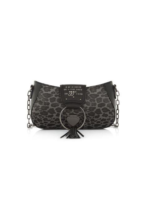 Mini bag con chiusura a zip LE PANDORINE | Borsa | VICKY BAGUETTE OGGILEOPARD BLACK