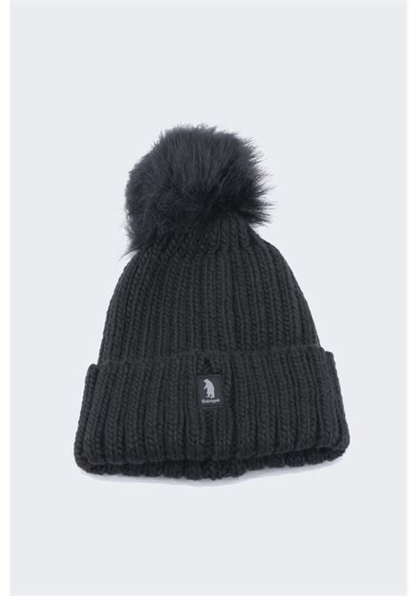 Cappello costine logo REFRIGUE   Cappello   R85137NAV2W001 BLACK
