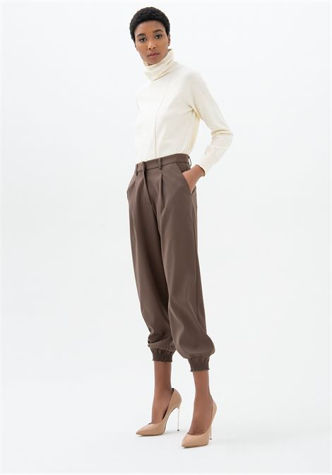 Pantalone regular con fondo stretto FRACOMINA | Pantalone | F321WV4002W45901091 BROWN