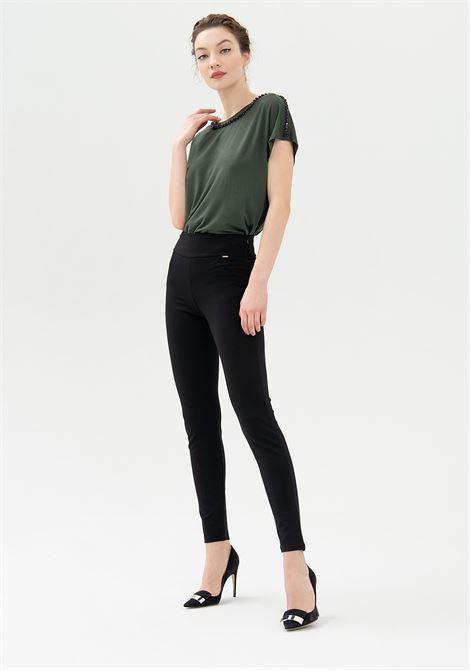 Leggings skinny con vita alta FRACOMINA | Pantalone | FR21WV7020W41601053 BLACK