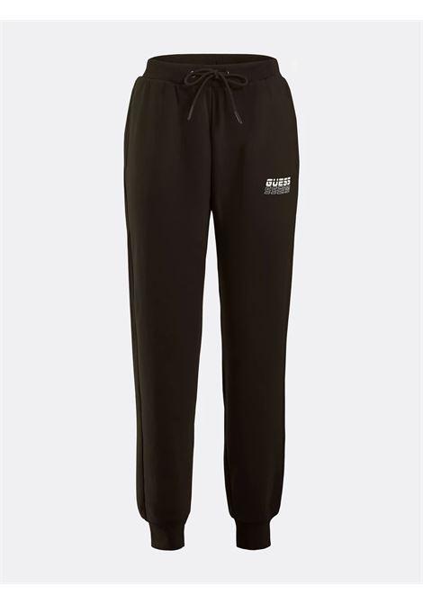 Jogger logo laterale GUESS ACTIWEAR   Pantalone   O1BA01 K9V31JBLK