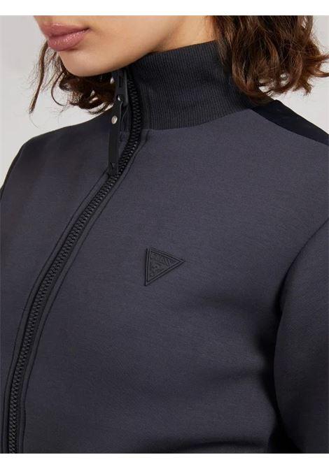Felpa chiusura con zip fascia logo GUESS ACTIWEAR | Felpe | O1YA00 KAMN2G7FQ