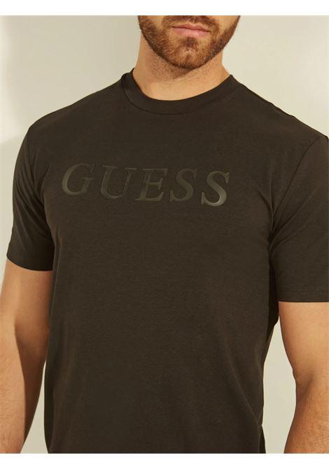 T-shirt logo frontale GUESS ACTIWEAR | T-shirt | U1YA00 JR06KJBLK